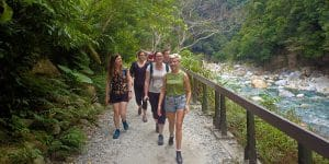 Walking on the Shakadang Trail in Taroko Gorge National Park