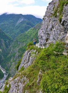 Walking on Zhuilu Old Trail, Taroko Gorge National Park