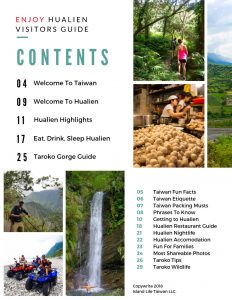 Hualien Visitors Guide Table Of Contents