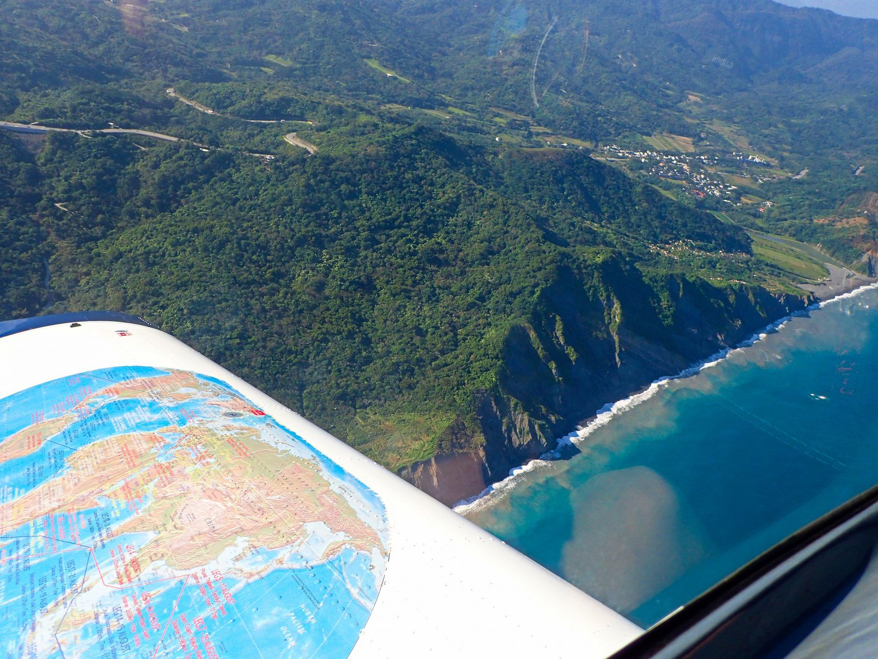 Hualien Flight View Up The Coast