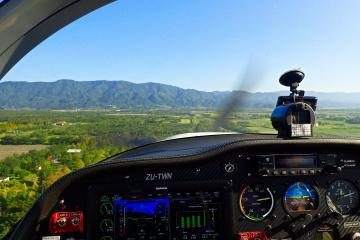 Hualien Flight Cockpit View