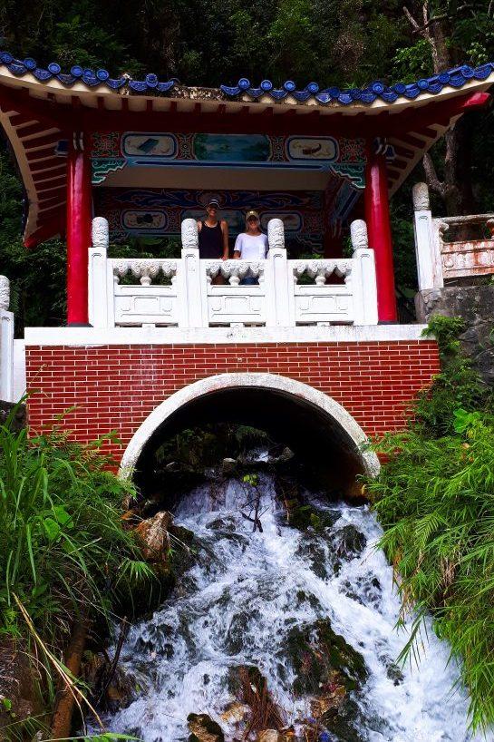 Taroko gorge trails in Taroko Park, eternal springs Shrine