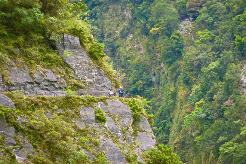 Taroko gorge trails in Taroko Park, Lushui Trail