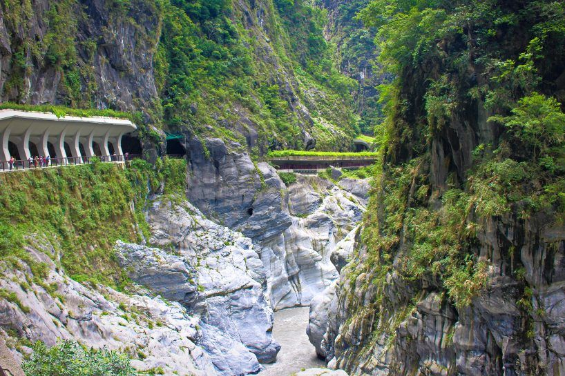 Taroko gorge trails in Taroko Park